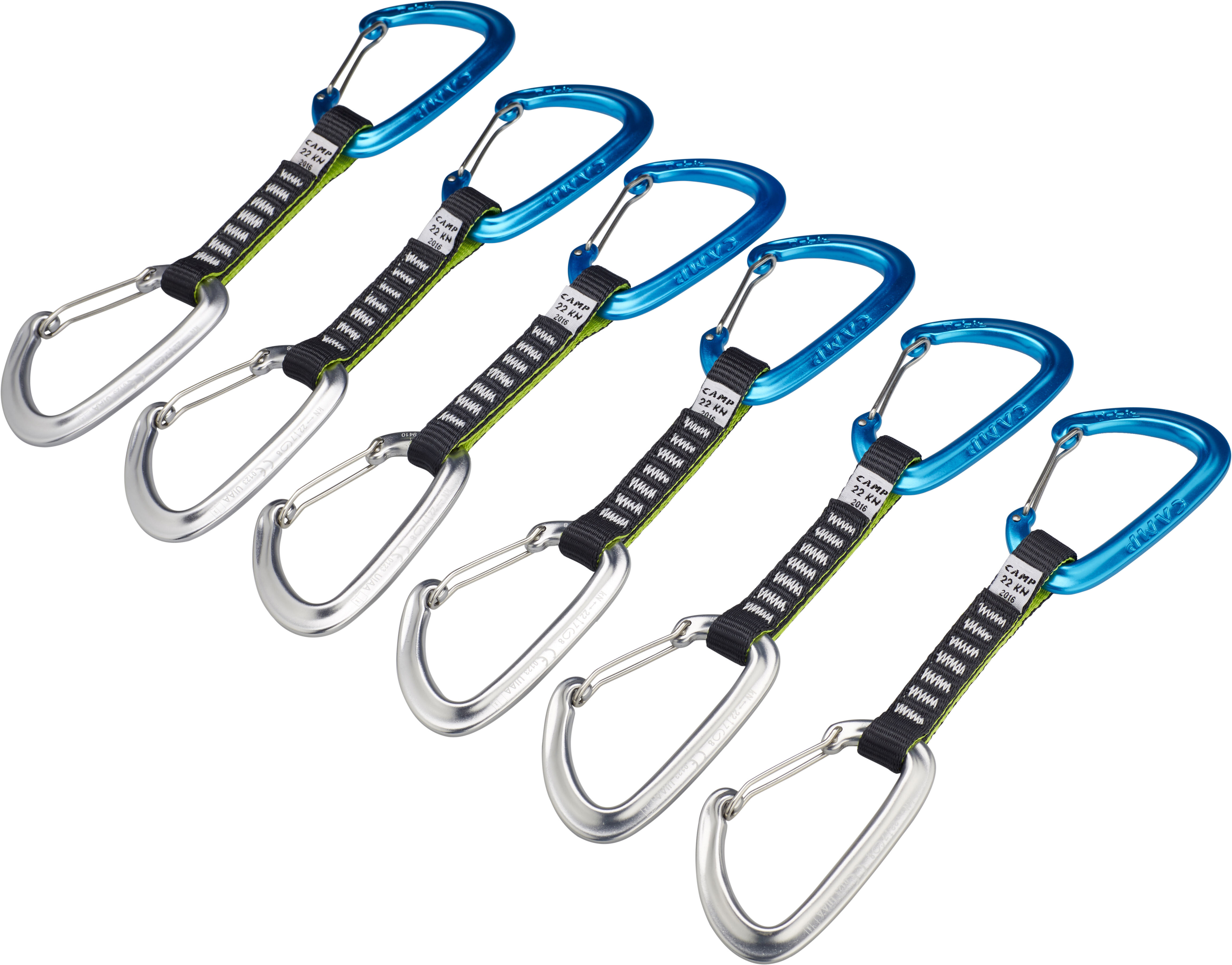 Wire Express   Camp Orbit Wire Express 6 Pack Quickdraws 11 Cm Campz De